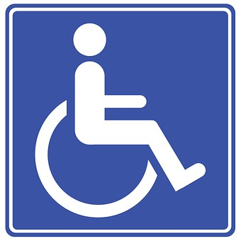employing people with disabilities badge showing disabillity