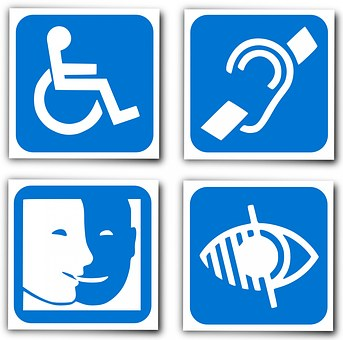 helping people with impairments find a job , disability symbols